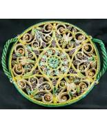 "Beautiful Latticed Floral 9"" Trivet/Plate - $29.67"