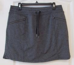 Tangerine Metro Knit Skort w/Zip Pocket Charcoal r Women's Sz S-XXL NWT MSPR$60 - $29.35