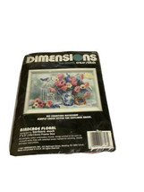Dimensions Cross Stitch No count Bird Cage Floral 7 x 5 inches Barbara M... - $7.69