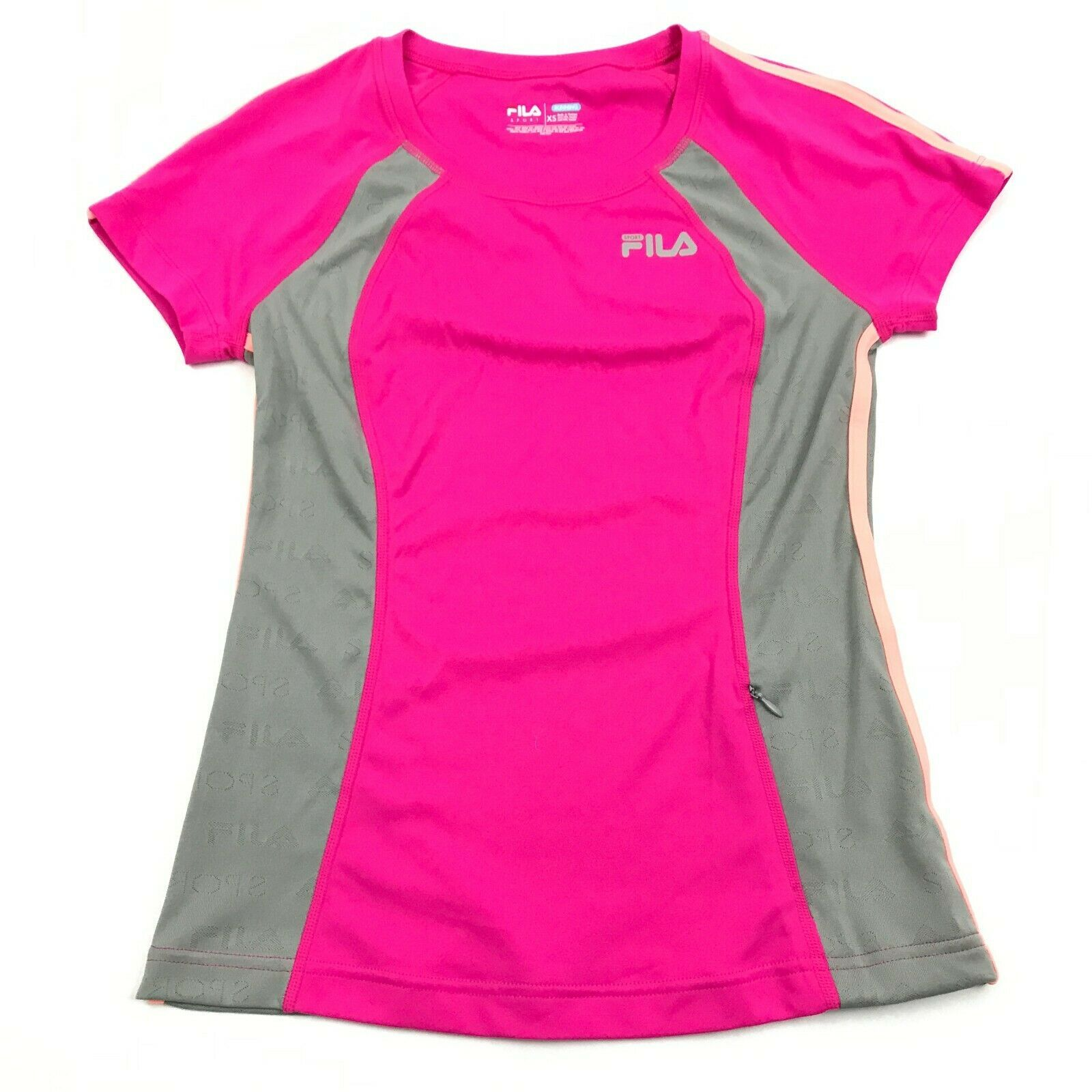 Primary image for NEW FILA Running Dry Fit Shirt Women's XS Extra Small Pink 3M Safety Reflective