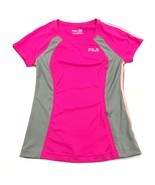NEW FILA Running Dry Fit Shirt Women's XS Extra Small Pink 3M Safety Ref... - $17.31