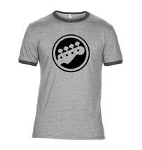 Bass Guitar Head Stock Ringer T Shirt - $12.90