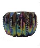Carnival Amethyst Glass Zipper Open Salt Dip Ce... - $15.95