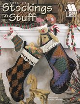 Stockings to Stuff Crochet Christmas Mantle Pineapple Cream Black Small ... - $8.99