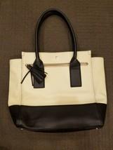 KATE SPADE New York Satchel Pebbled Leather Shoulder Handbag Black White  - $84.14