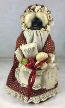"Vintage Apple Head Doll with Food Basket by Apple Darlings California 10.5"" - $19.34"