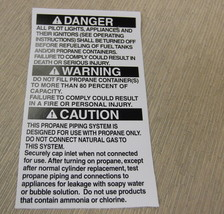 """RV Safety Decal """"Danger:Warning:Caution:"""" TL5002 UPC:710534474085 - $8.42"""