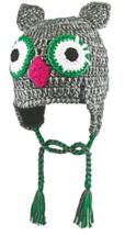 Kid's Bula Puppet Peruvian Knit Hat Ear Flaps Boy's Girl's Winter One Size OWL