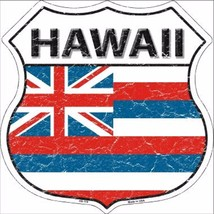 """Hawaii State Flag Distressed 11"""" x 11"""" Novelty Highway Shield Metal Sign - $9.95"""