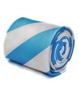 Frederick Thomas blue & white barber striped tie FT1592 Argentina Flag W... - $21.98