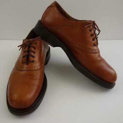 Primary image for Johnston & Murphy Italian Leather Passport Oxfords Made in Italy Mens Sz 11 M