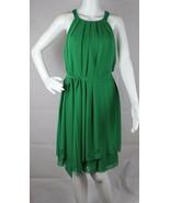 Jessica Simpson Femmes Robe sans Manche Vert Polyester Taille 10 - $23.17