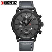 Relogio Masculino Curren Quartz Watch Men 8217 Top Brand Luxury Leather Mens Wat - $30.48