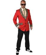 Teddy Boy / Rockabilly / Showman JACKET Red  / Leopard Print , XS - XXL  - $43.71+