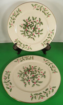 Lenox PRESIDENTIAL SPECIAL Service Plate Charger (s) LOT OF 2 Holiday Di... - $64.30