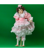 """1989 16"""" Franklin Heirloom Porcelain Doll, Little Girl With A Curl - $8.95"""