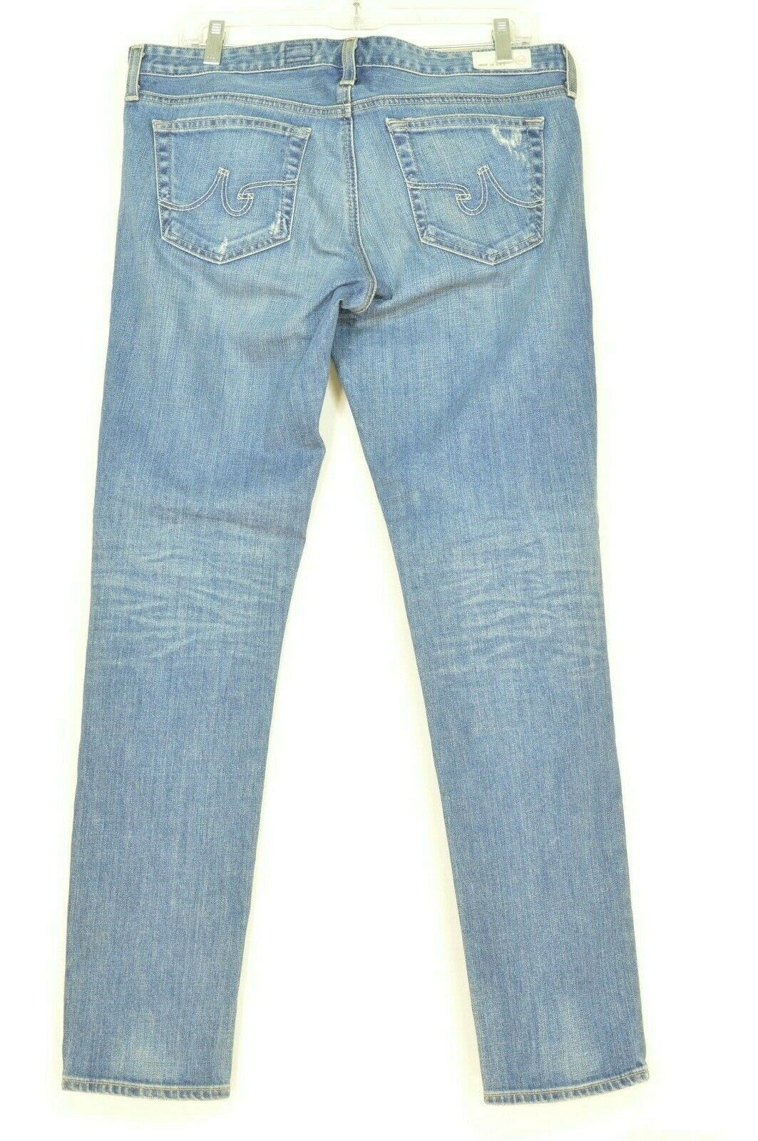 AG Adriano Goldschmied jeans 31 x 31 Stilt cigarette leg 17Y - SVT destroyed USA image 2