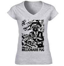 Millionaire Pug P - New Cotton Grey Tshirt S-M-L-XL-XXL - $24.80