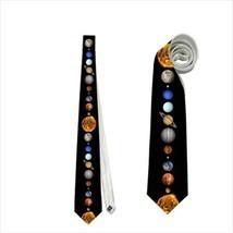 necktie solar system planets stars sun moon astreology cosmos venus satu... - $22.00
