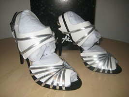 Sam Edelman Shoes 6.5 M Womens New Harlette Silver Black Patent Leather Heels - $68.31