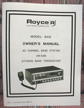 Royce 642 40 channel AM/SSB Base CB Radio Owners Manual & 6 schematics -... - $32.95