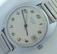 17 Jewels Made in USSR Sekonda wind up men's vintage watch mint condition - $51.24 CAD