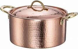 DEMMEX 1.2MM Thick Hammered Copper Soup Pot Stew Pan Casserole, 3.4 Quar... - $89.90