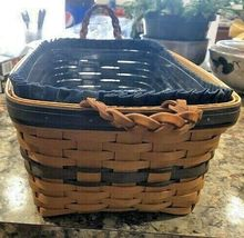 Longaberger Basket 1997 Collectors Club Edition Braided Leather Handles NEW image 4