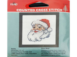 Plaid Counted Cross Stitch Kit With Frame, Set of 5 image 4