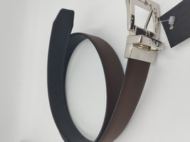 DKNY Womens Brown Saffiano to Black Smooth Reversible Belt Size Medium $... - $19.99