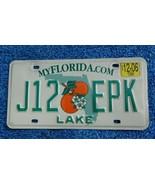 Florida Auto Tag License Plate J12 EPK MyFloridaCom Lake County - $7.00