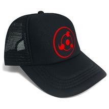 Naruto Baseball Cap Summer Series Snapback Hat Peaked Cap Black Sharingan - $15.99