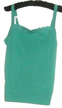 WOMEN'S GREEN LACE DETAIL NECKLINE TANK/CAMI SIZE M COLDWATER CREEK - $9.00