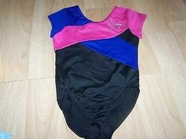 Girls Size Medium Freestyle Danskin Dance Gymnastics Leotard Black Blue ... - $16.00