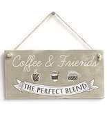 Meijiafei Coffee & Friends - Retro Kitchen Sign/ Plaque Friendship Gift ... - £9.81 GBP