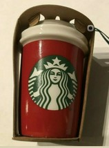 2016 Starbucks Red New York State Ceramic Cup Ornament NEW Fast Ship - $13.66