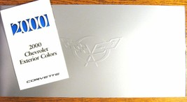 2000 Corvette Prestige Brochure w/ Env  & Color Paint Chip & Trim Folder... - $25.46