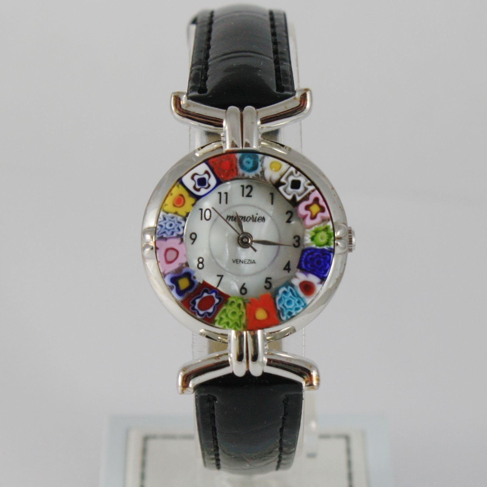 ANTICA MURRINA VENEZIA QUARTZ WATCH 27 MM, BLACK, MURANO FLOWER GLASS