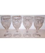 """STUNNING SET OF 4 MIKASA CRYSTAL PARK LANE 6 3/8"""" WINE GLASSES - $42.07"""