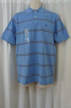 "Izod Mens Casual Shirt Sz S Blue Revival Striped Polo ""Heritage Oxford"" ... - $19.71"