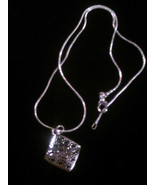 925 Sterling Silver Snake Necklace with a Paw Print and Love Pendant - $7.99