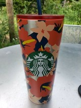 Starbucks Summer 2020 Hawaiian Floral  24 oz. stainless steel Tumbler NE... - $66.66