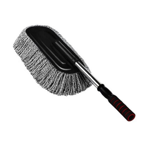 PANDA SUPERSTORE Cleaning Supplies Retractable Car Duster/Dust Brush,Black