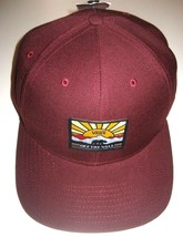 Vans Mens Grizzly Mountain Bear Wool Blend Hat Maroon Adjustable Free Ship NWT image 1