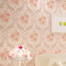 beibehang Pastoral pink flowers Modern Wall Paper For Living Room Wallpaper roll - $79.95