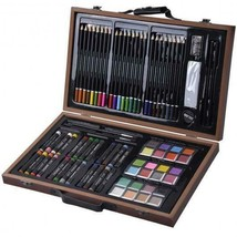 80-Piece Deluxe Art Set With Wood Case Drawing Painting Accessories Artist - $31.99