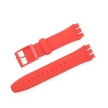 VENDITA PAZZA! rosso rosso rosso silicone rubber Cinghia Swatch si adatt... - $12.99