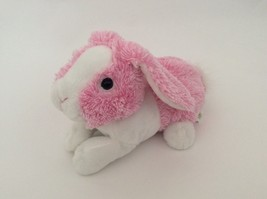"ANIMAL ADVENTURE frosted pink white BUNNY RABBIT 9"" Easter plush - $12.19"