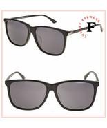 GUCCI SENSUAL ROMANTIC 0017 Black Gunmetal Square Men Sunglasses GG0017S... - $269.28