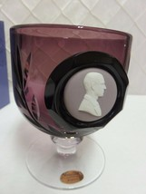 Wedgwood Purple Cut Glass Goblet Prince Philip Edinburgh Boxed Cert 183/250 - $58.66
